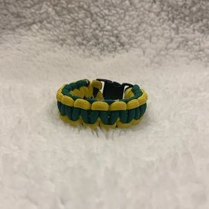 Handmade Green and Yellow Paracord Bracelet